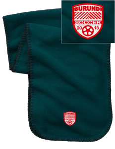 Burundi Soccer Embroidered Fleece Scarf