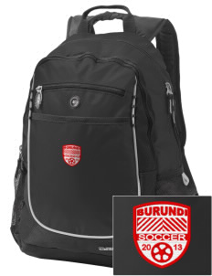Burundi Soccer Embroidered OGIO Carbon Backpack