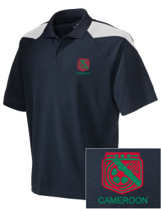 Cameroon Soccer Embroidered Holloway Men's Frequency Performance Pique Polo