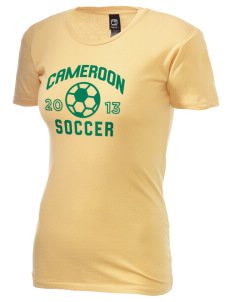 Cameroon Soccer Alternative Women's Basic Crew T-Shirt