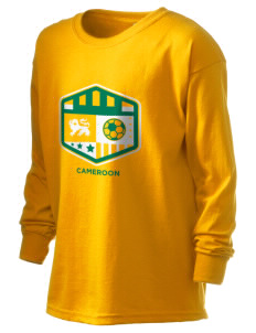 Cameroon Soccer Kid's 6.1 oz Long Sleeve Ultra Cotton T-Shirt