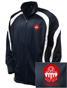 Canada Soccer Embroidered Holloway Men's Tricotex Warm Up Jacket