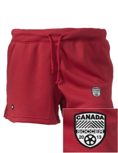"Canada Soccer Embroidered Holloway Women's Balance Shorts, 3"" Inseam"