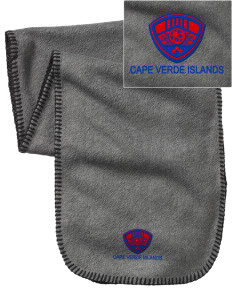 Cape Verde Islands Soccer Embroidered Fleece Scarf
