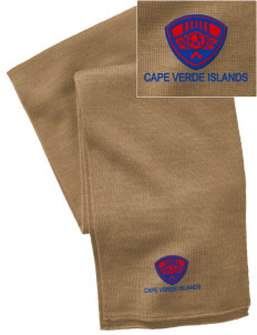 Cape Verde Islands Soccer  Embroidered Knitted Scarf