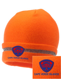 Cape Verde Islands Soccer  Embroidered Safety Beanie with Reflective Stripe