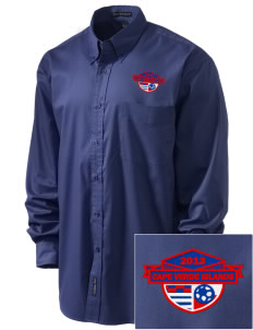 Cape Verde Islands Soccer Embroidered Men's Easy-Care Shirt