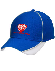 Cape Verde Islands Soccer Embroidered New Era Contrast Piped Performance Cap