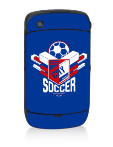 Cayman Islands Soccer Black Berry 8530 Curve Skin