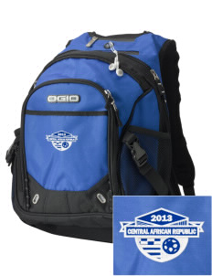 Central African Republic Soccer Embroidered OGIO Fugitive Backpack