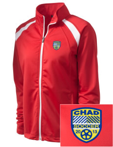 Chad Soccer Embroidered Women's Tricot Track Jacket