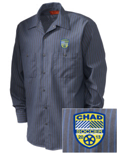 Chad Soccer Embroidered Men's Industrial Work Shirt - Regular