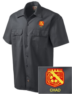 Chad Soccer Embroidered Dickies Men's Short-Sleeve Workshirt