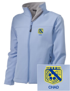 Chad Soccer Embroidered Women's Soft Shell Jacket