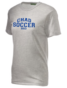 Chad Soccer Embroidered Alternative Unisex Eco Heather T-Shirt