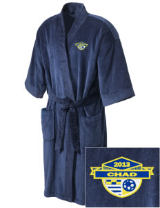Chad Soccer Embroidered Terry Velour Robe