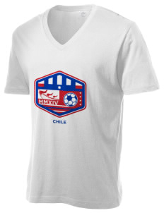 Chile Soccer Alternative Men's 3.7 oz Basic V-Neck T-Shirt