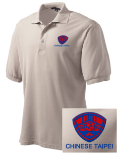 Chinese Taipei Soccer Embroidered Men's Silk Touch Polo