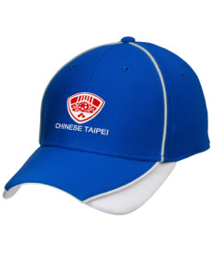Chinese Taipei Soccer Embroidered New Era Contrast Piped Performance Cap