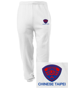 Chinese Taipei Soccer Embroidered Men's Sweatpants with Pockets