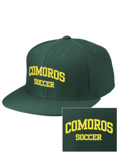 Comoros Soccer Embroidered Diamond Series Fitted Cap