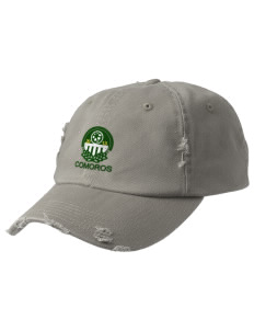 Comoros Soccer Embroidered Distressed Cap