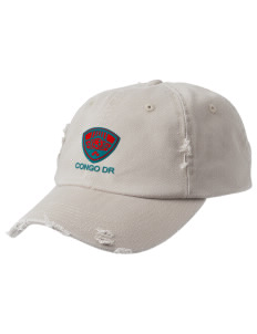 Congo DR Soccer Embroidered Distressed Cap