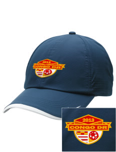 Congo DR Soccer Embroidered Nike Dri-FIT Swoosh Perforated Cap
