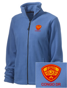 Congo DR Soccer Embroidered Women's Wintercept Fleece Full-Zip Jacket