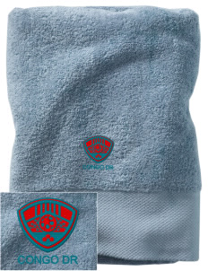 Congo DR Soccer Embroidered Zero Twist Resort Towel