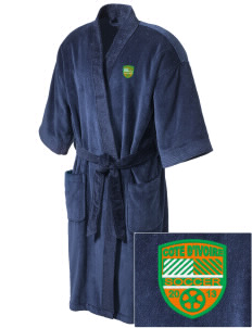 Cote d'Ivoire Soccer Embroidered Terry Velour Robe