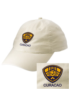 Curacao Soccer Embroidered Vintage Adjustable Cap