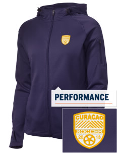 Curacao Soccer Embroidered Women's Tech Fleece Full-Zip Hooded Jacket