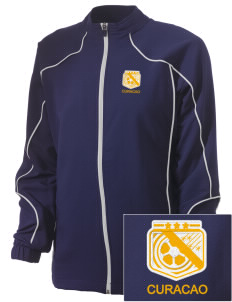 Curacao Soccer Embroidered Russell Women's Full Zip Jacket