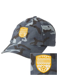 Curacao Soccer Embroidered Camouflage Cotton Cap