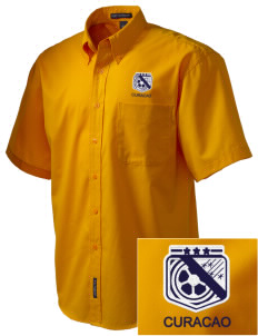 Curacao Soccer Embroidered Men's Easy Care Shirt