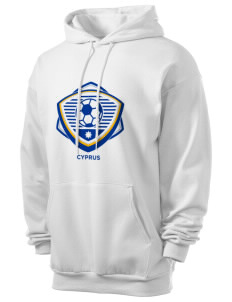 Cyprus Soccer Men's 7.8 oz Lightweight Hooded Sweatshirt