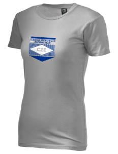 Czech Republic Soccer Alternative Women's Basic Crew T-Shirt