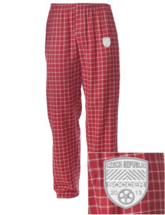 Czech Republic Soccer Embroidered Men's Button-Fly Collegiate Flannel Pant