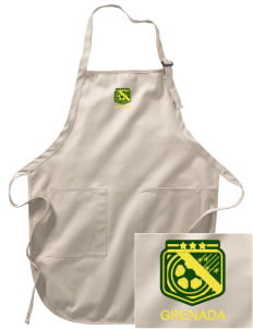 Grenada Soccer Embroidered Full-Length Apron with Pockets