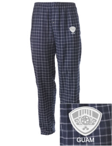 Guam Soccer Embroidered Men's Button-Fly Collegiate Flannel Pant