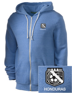 Honduras Soccer Embroidered Alternative Men's Rocky Zip Hooded Sweatshirt
