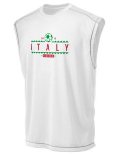 Italy Soccer Champion Men's 4.1 oz Double Dry Odor Resistance Muscle T-Shirt