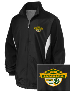 Jamaica Soccer Embroidered Holloway Men's Full-Zip Jacket