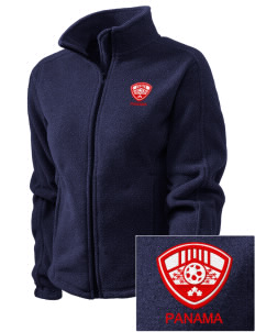 Panama Soccer Embroidered Women's Fleece Full-Zip Jacket