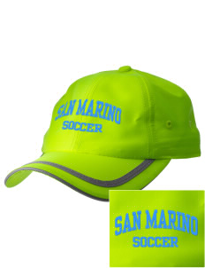 San Marino Soccer  Embroidered Safety Cap