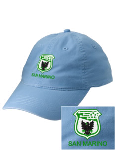San Marino Soccer Embroidered Vintage Adjustable Cap
