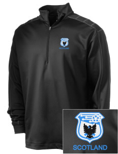 Scotland Soccer Embroidered Nike Men's Golf Dri-Fit 1/2 Zip