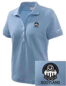 Scotland Soccer Embroidered Nike Women's Pique Golf Polo
