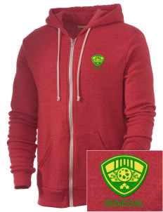 Senegal Soccer Embroidered Alternative Men's Rocky Zip Hooded Sweatshirt